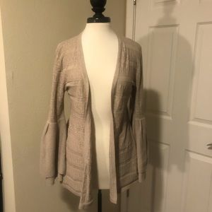Style & Co Long Cardigan w/ Bell Sleeves- Like New